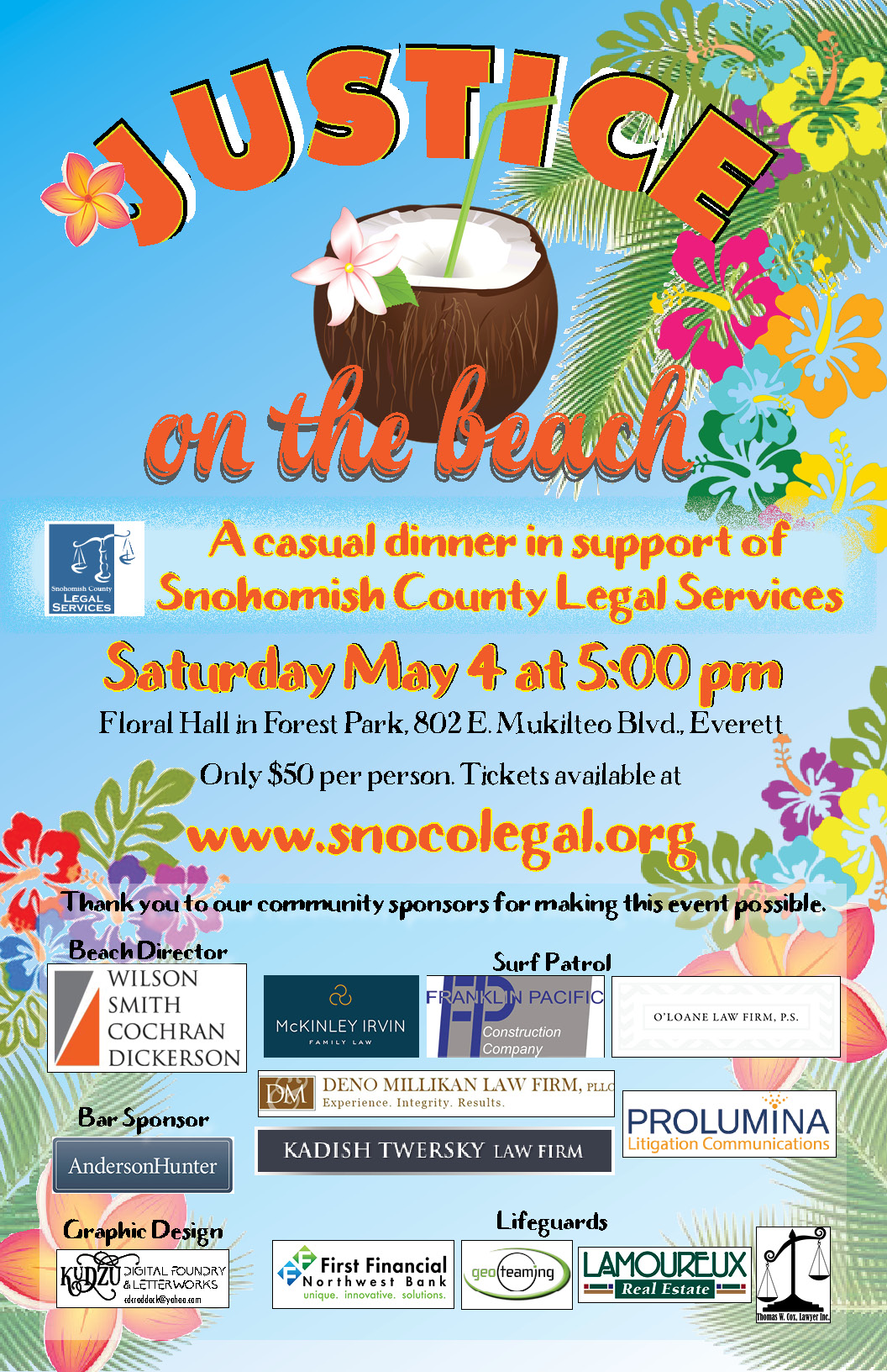 Justice On The Beach 2019 Snohomish County Legal Services